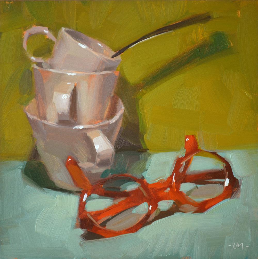 """How Many Cups Do You See?"" original fine art by Carol Marine"