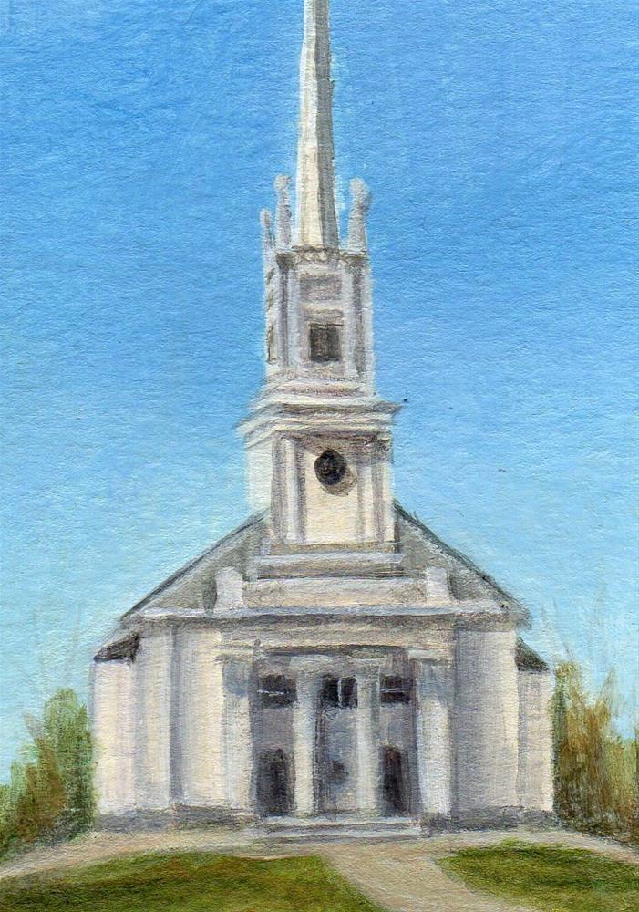 """Meeting House"" original fine art by Debbie Shirley"