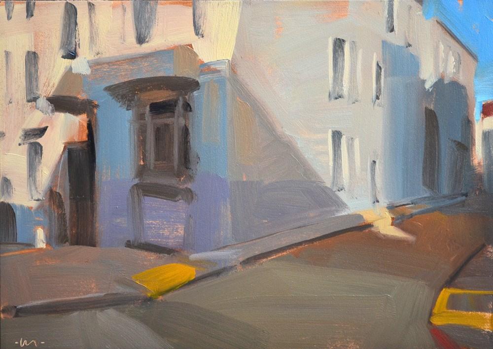 """San Fran Corner"" original fine art by Carol Marine"