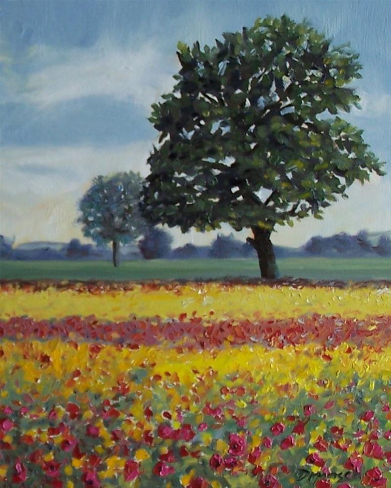 """""""Poppy Tree"""" original fine art by Donna Munsch"""
