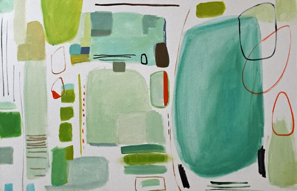"""""""Aqua Abstract"""" original fine art by Pamela Munger"""