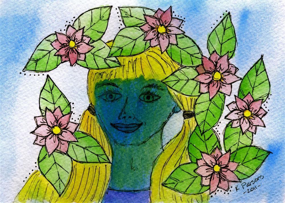 """""""Feeling Blue"""" original fine art by Kali Parsons"""