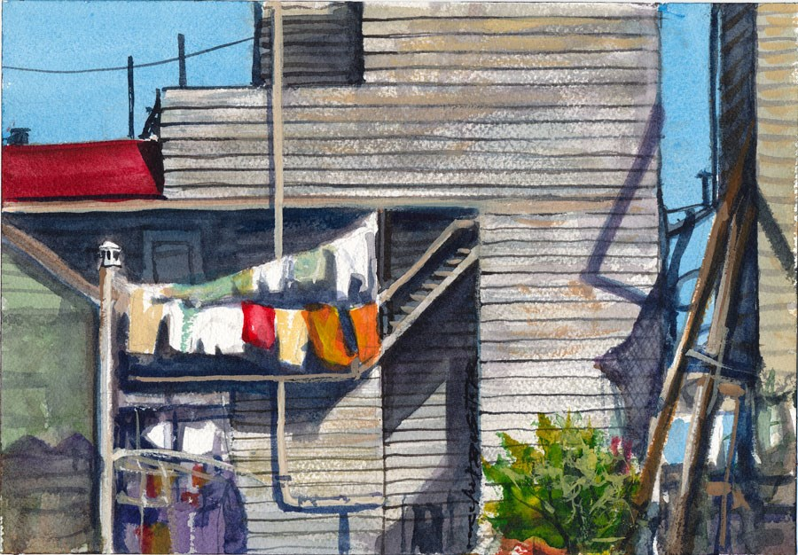 """Old San Francisco Backyard"" original fine art by Rafael DeSoto Jr."