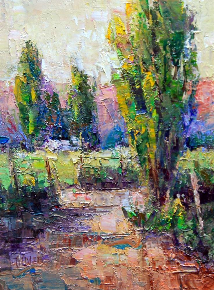 """""""Pushing Color in the Landscape"""" original fine art by Julie Ford Oliver"""