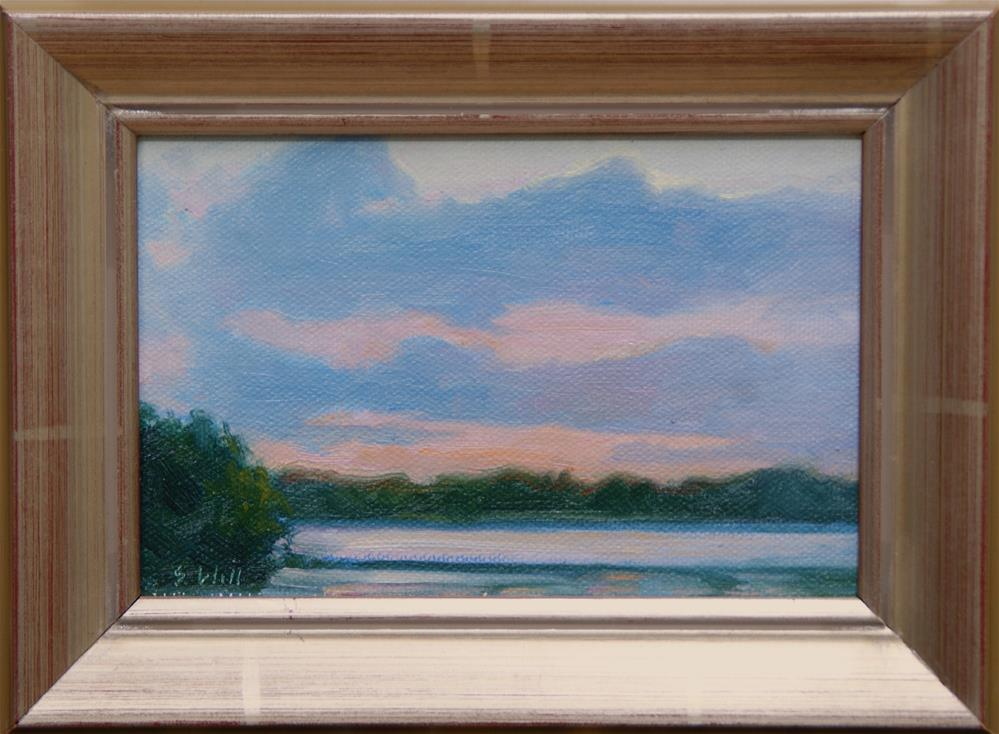 """Evening Marsh 4x6"" original fine art by Sharon Will"