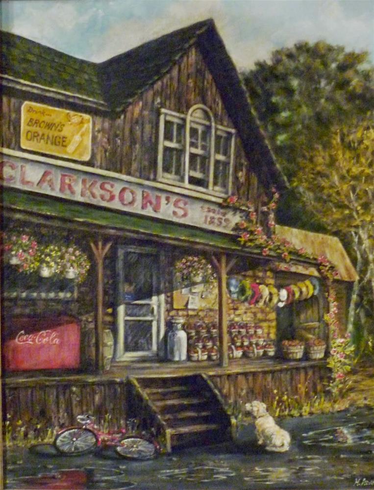 """Muskoka General Store"" original fine art by Helene Adamson"