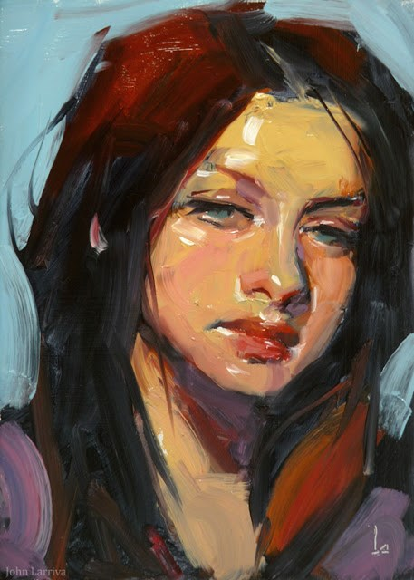 """Bask"" original fine art by John Larriva"