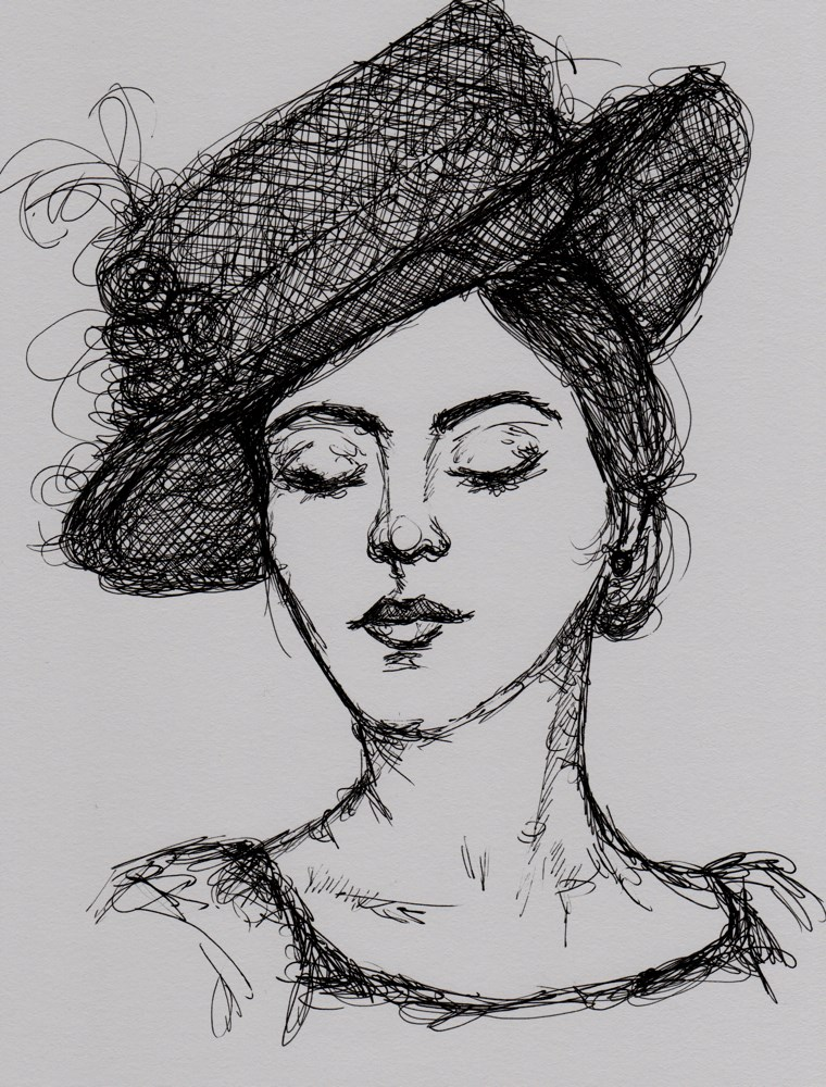 """Portrait of Vivienne"" original fine art by Roberta Schmidt"