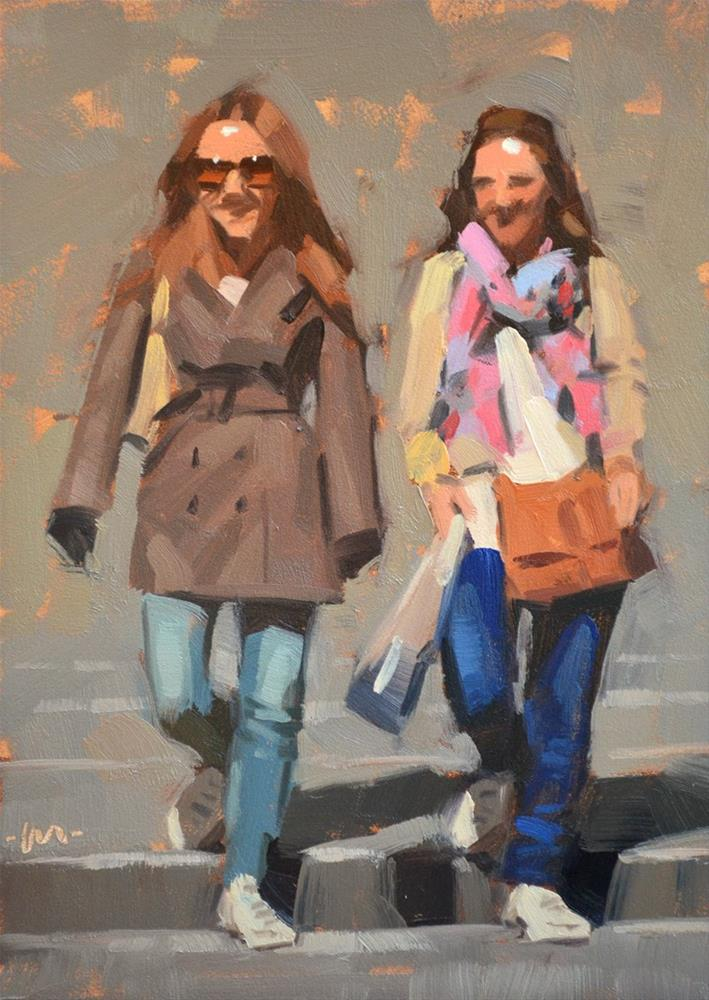 """Dressed For the Town"" original fine art by Carol Marine"