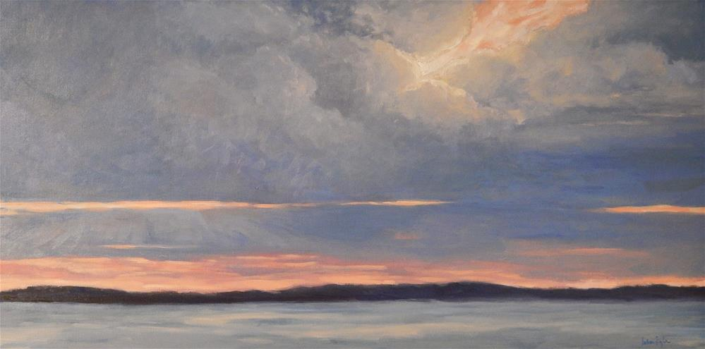 """Sunset on the Water"" original fine art by Lisa Kyle"