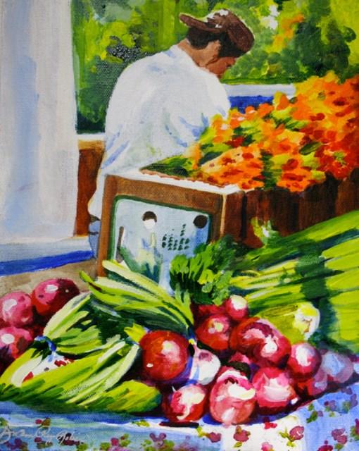 """Farmer's Market Man"" original fine art by JoAnne Perez Robinson"