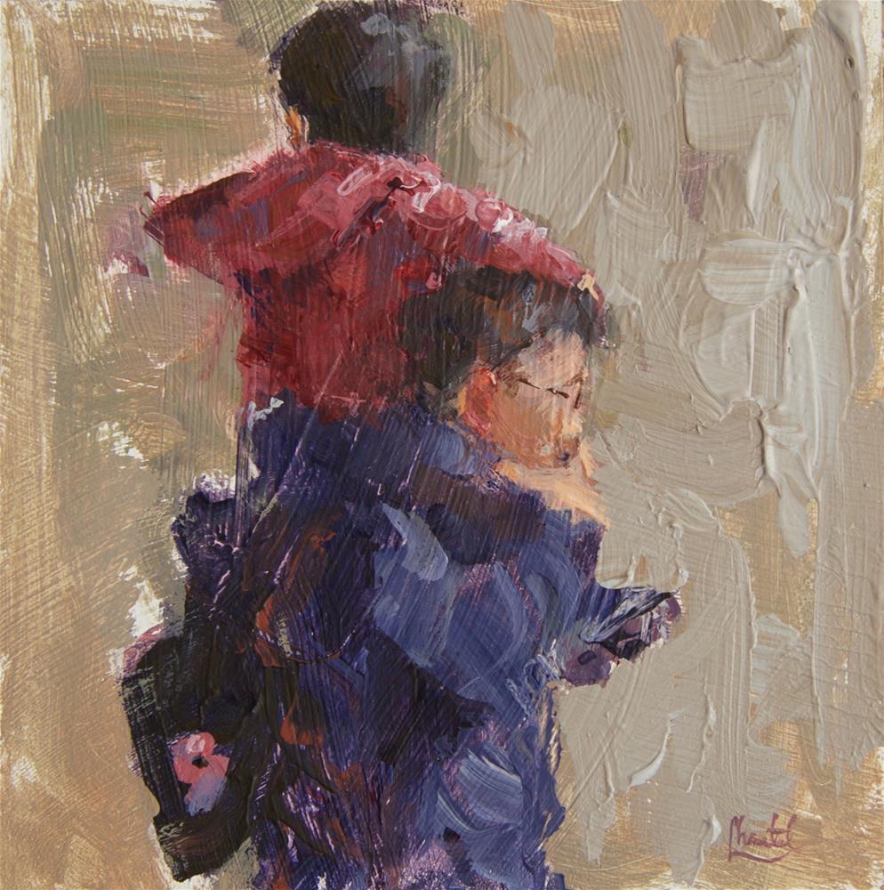 """On Your Shoulders"" original fine art by Chantel Barber"