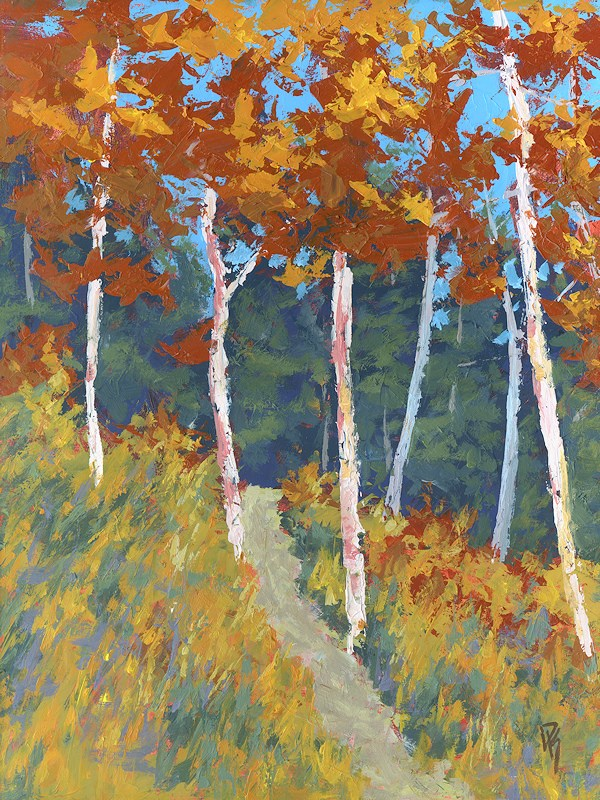"""Red Mountain Aspens"" original fine art by David King"