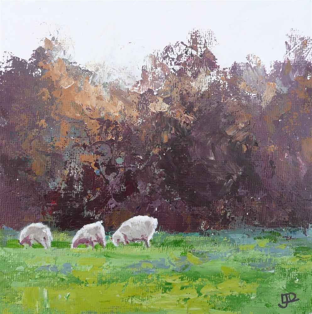 """Early Morning Graze"" original fine art by Leanne Owen"