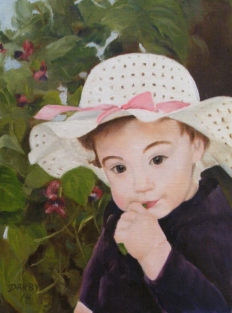 """Sweet Peas"" original fine art by Lynn Darby"