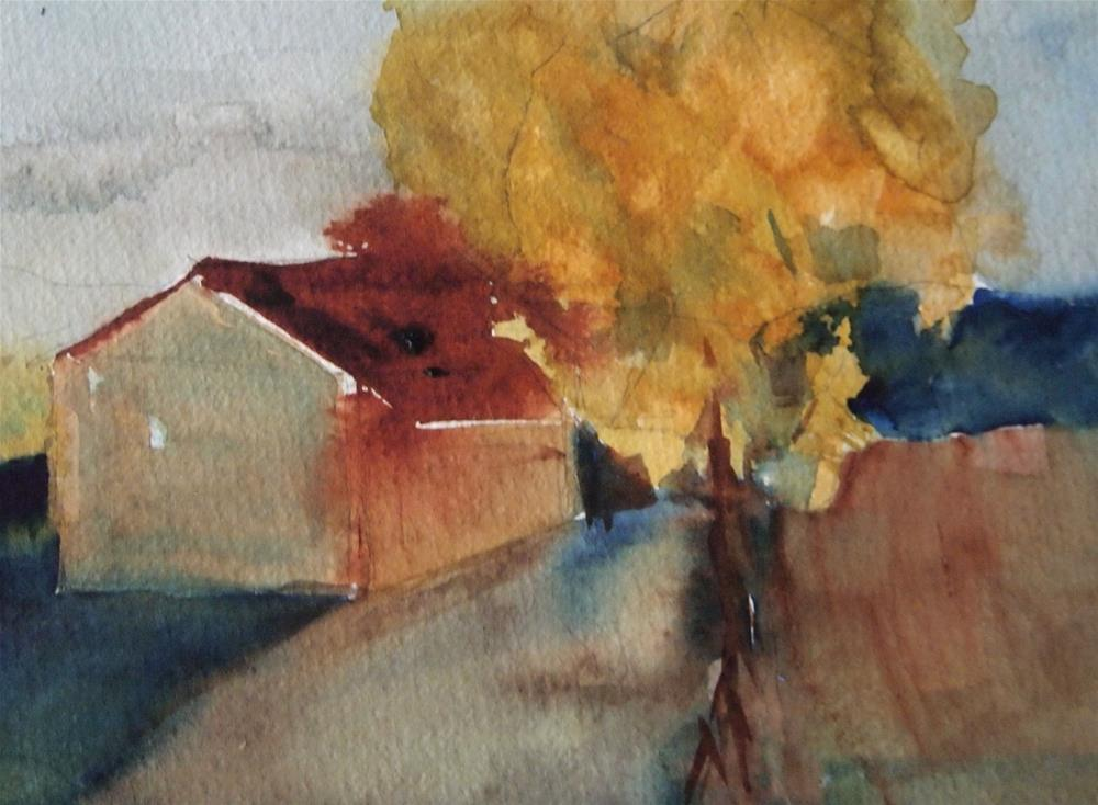 """House and Tree"" original fine art by Amy Bryce"