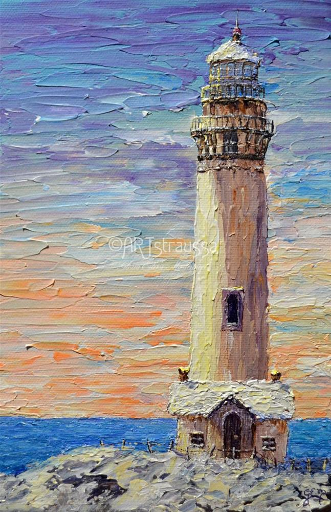 """Pigeon Point Lighthouse"" original fine art by Gloria Ester"