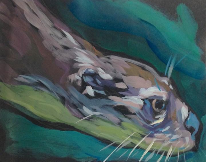 """Slick"" original fine art by Kat Corrigan"