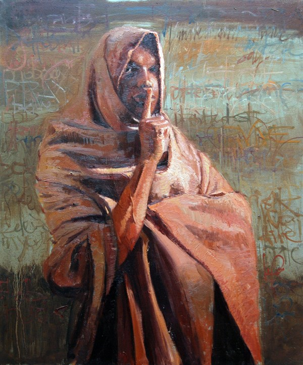 """The Beauty of Silence"" original fine art by Adebanji Alade"