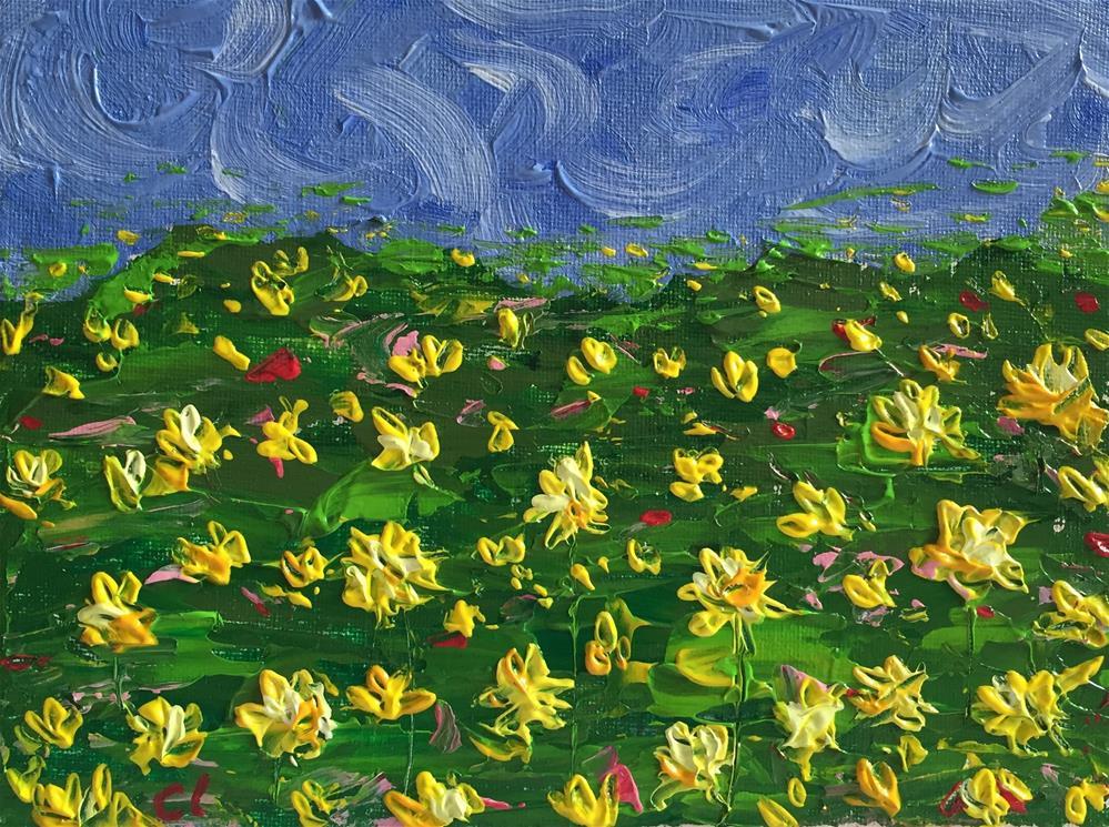 """Dandy Drops of Sunshine"" original fine art by Cheree Apalona Lueck"