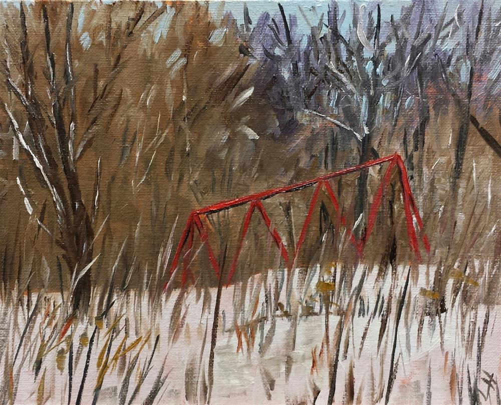 """Waiting for Spring"" original fine art by Judith Fletcher"