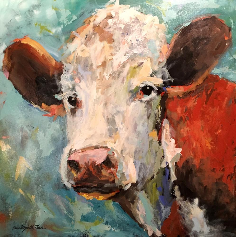 """Holy Cow!"" original fine art by Susan Elizabeth Jones"
