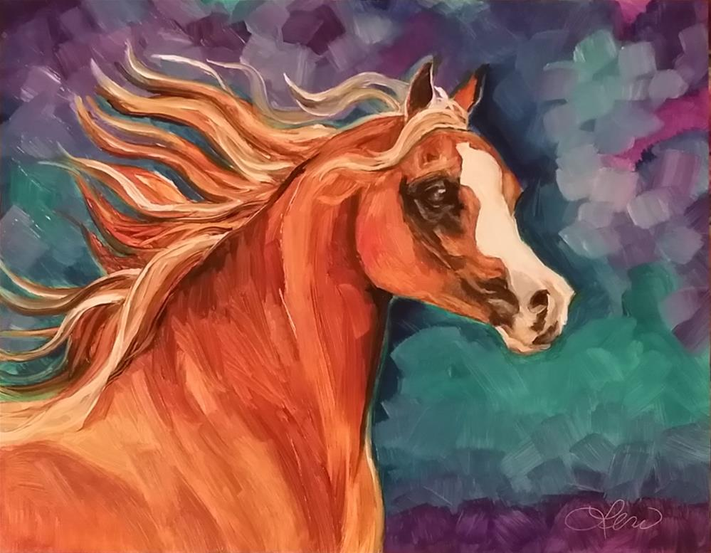 """Arabian Mare"" original fine art by Leni Tarleton"