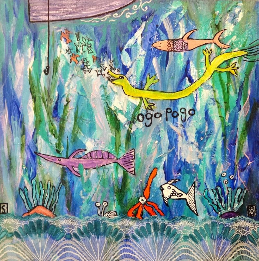 """5039 - Ogopogos Lunch"" original fine art by Sea Dean"