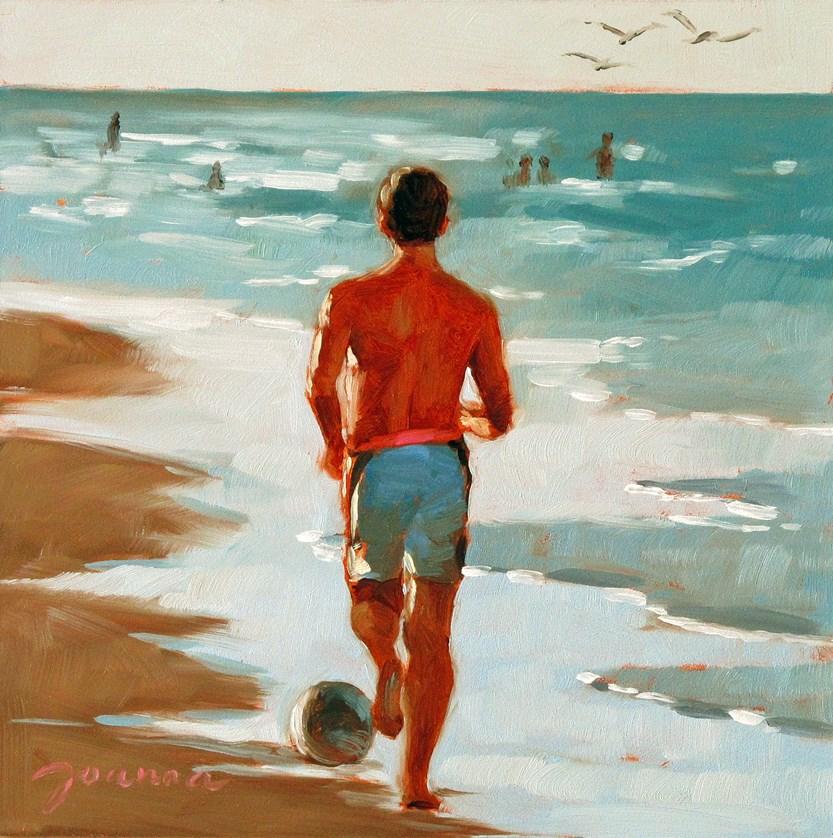 """""""Soccer Fan"""" original fine art by Joanna Bingham"""