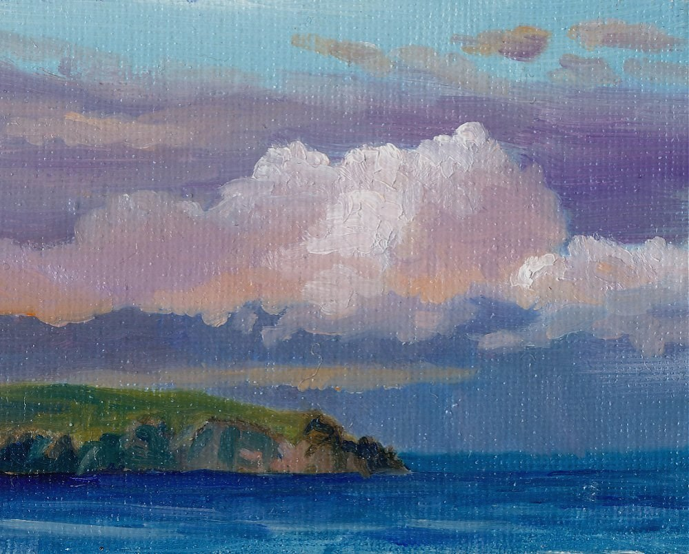 """Pink Cloud"" original fine art by Christine Derrick"