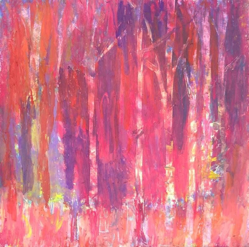 """Magenta Forest"" original fine art by Meredith Adler"
