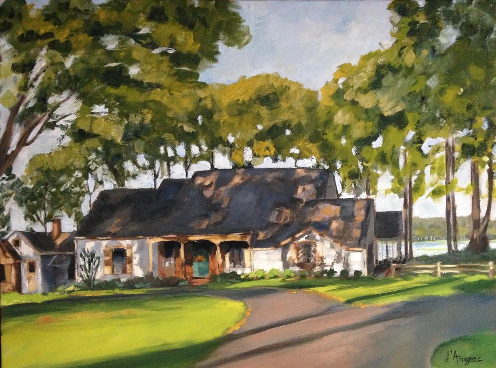 """House on the Lake"" original fine art by Karen D'angeac Mihm"