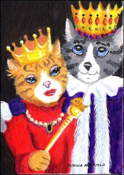 """""""A King in Love"""" original fine art by Patricia Ann Rizzo"""