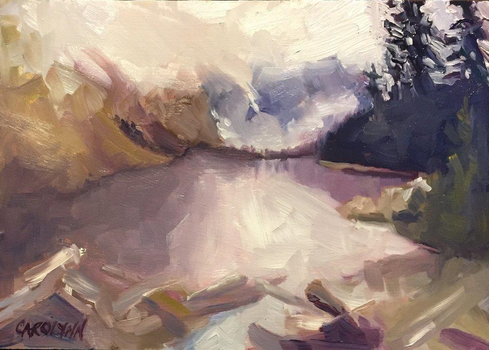"""Moraine Lake2"" original fine art by Carolynn Doan"