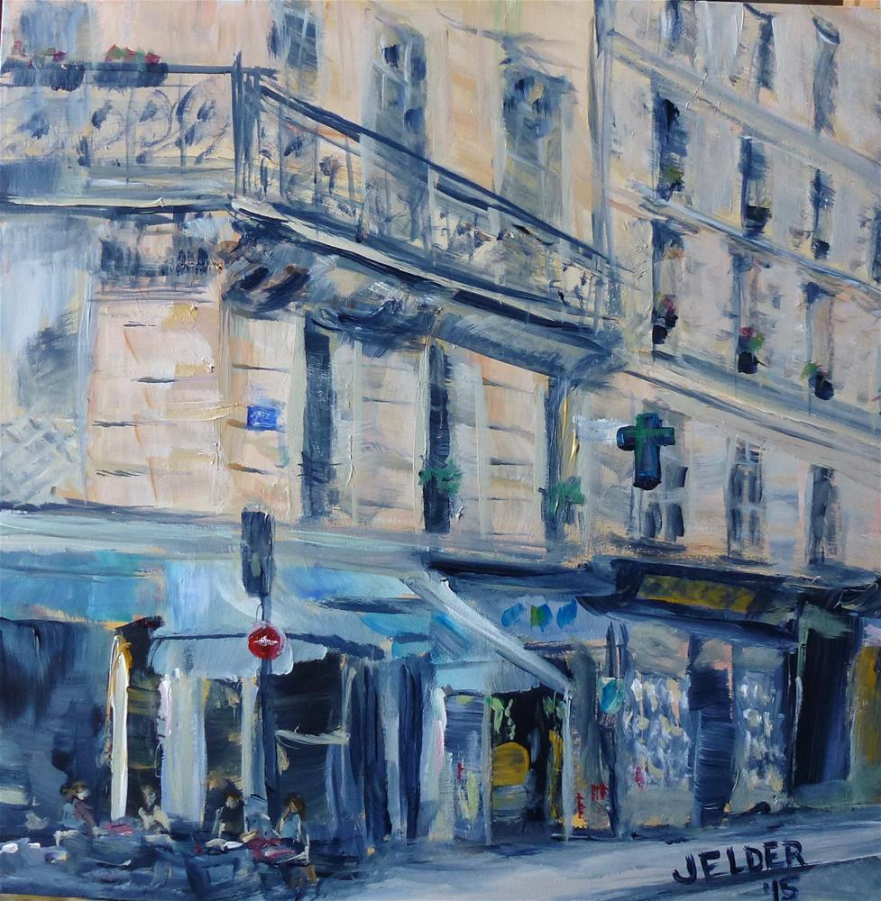"""Marais, Paris No. 98"" original fine art by Judith Elder"
