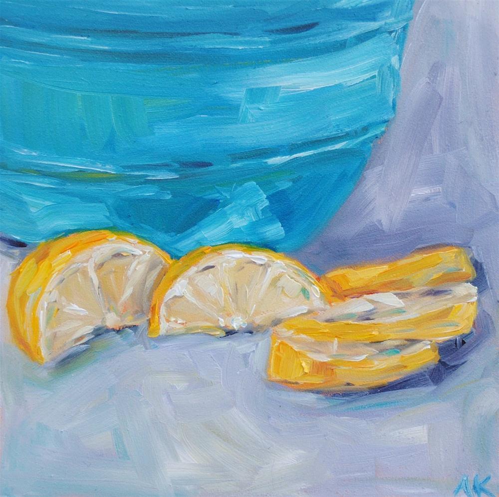 """Lemon Slices"" original fine art by Alison Kolkebeck"
