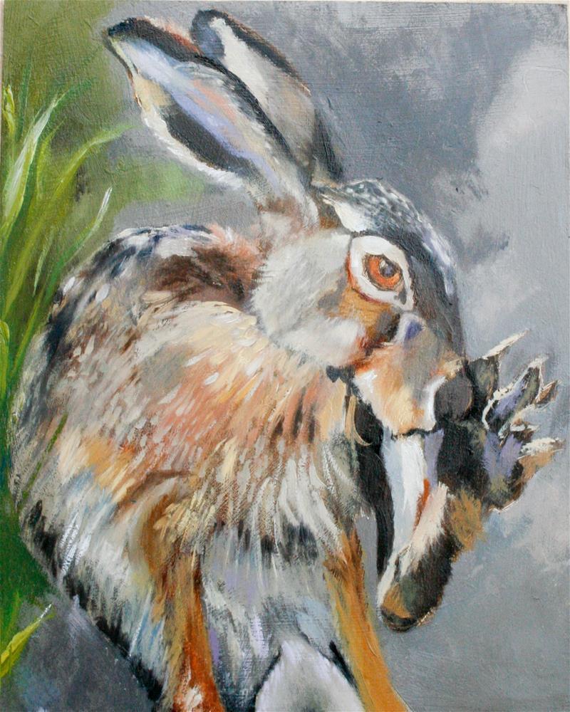 """lucky"" original fine art by Leslie Miller"