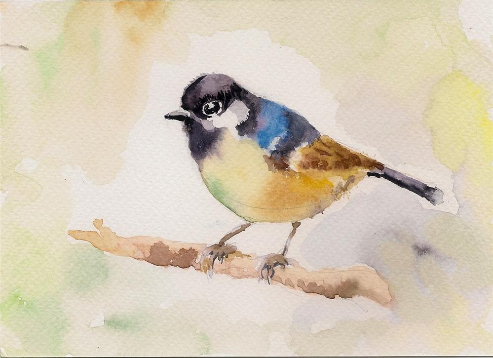 """The Little Sparrow"" original fine art by Asha Shenoy S"