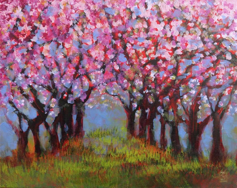 """6045 - The Old Cherry Orchard"" original fine art by Sea Dean"