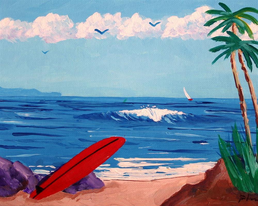 """""""RED BOARD"""" original fine art by Bob Phillips"""