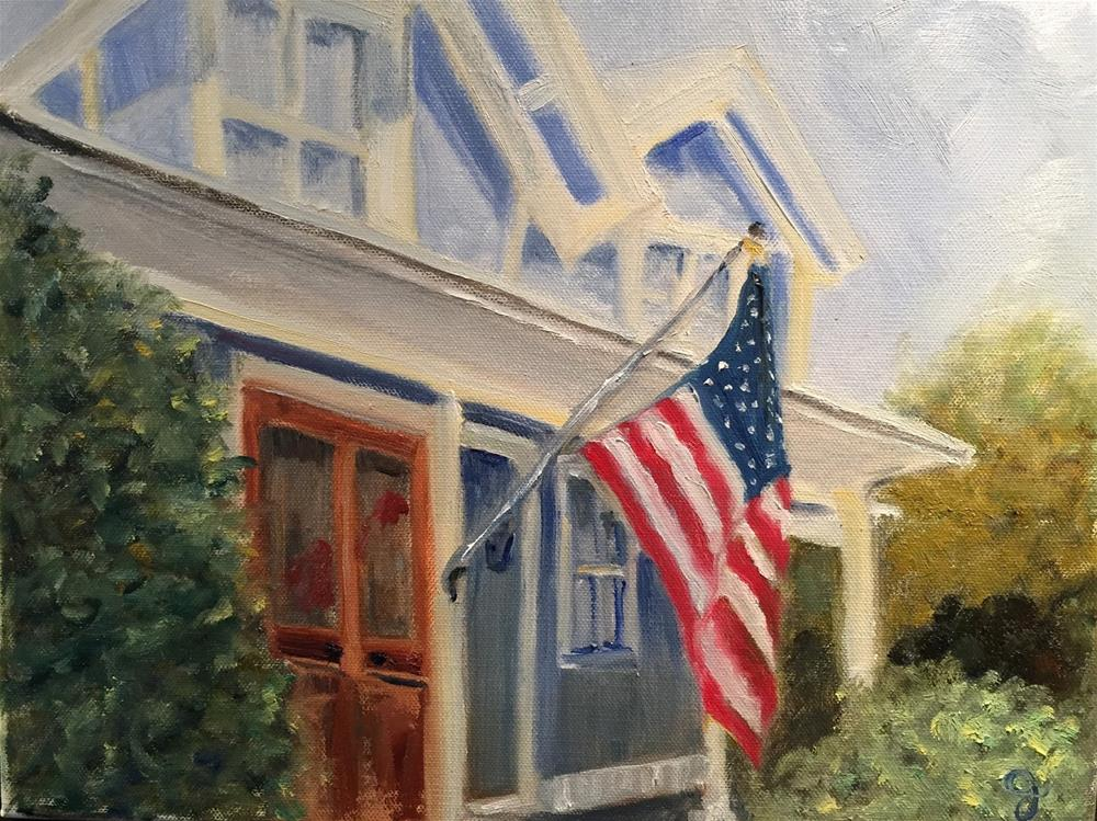 """Beaufort Cottage"" original fine art by Gayle Lambeth"