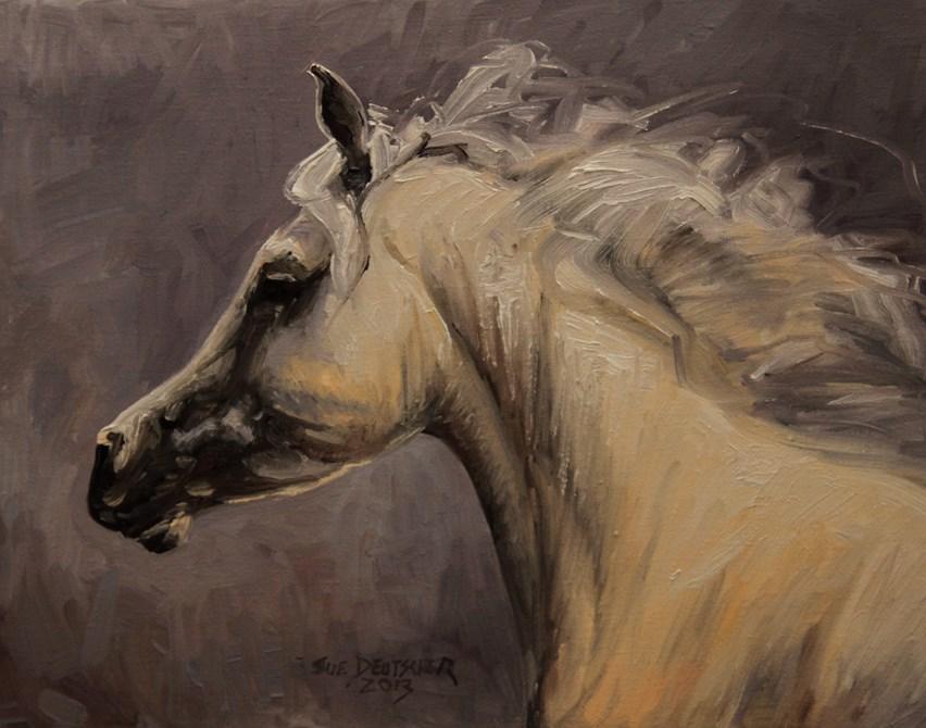 """""""Grey Mare"""" original fine art by Sue Deutscher"""