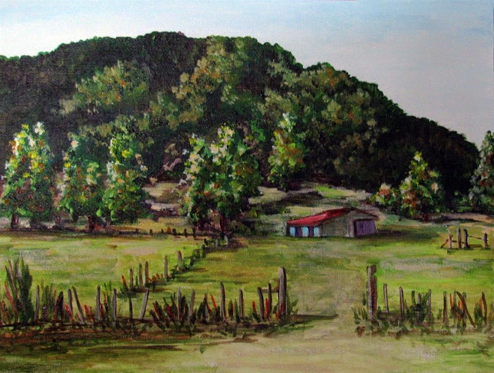 """South Chile Ranch"" original fine art by Nan Johnson"