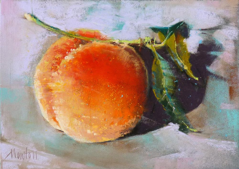 """Frost Peach"" original fine art by Barbara Benedetti Newton"