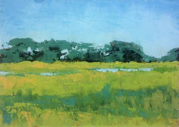 """Marsh Island"" original fine art by Mary Gilkerson"