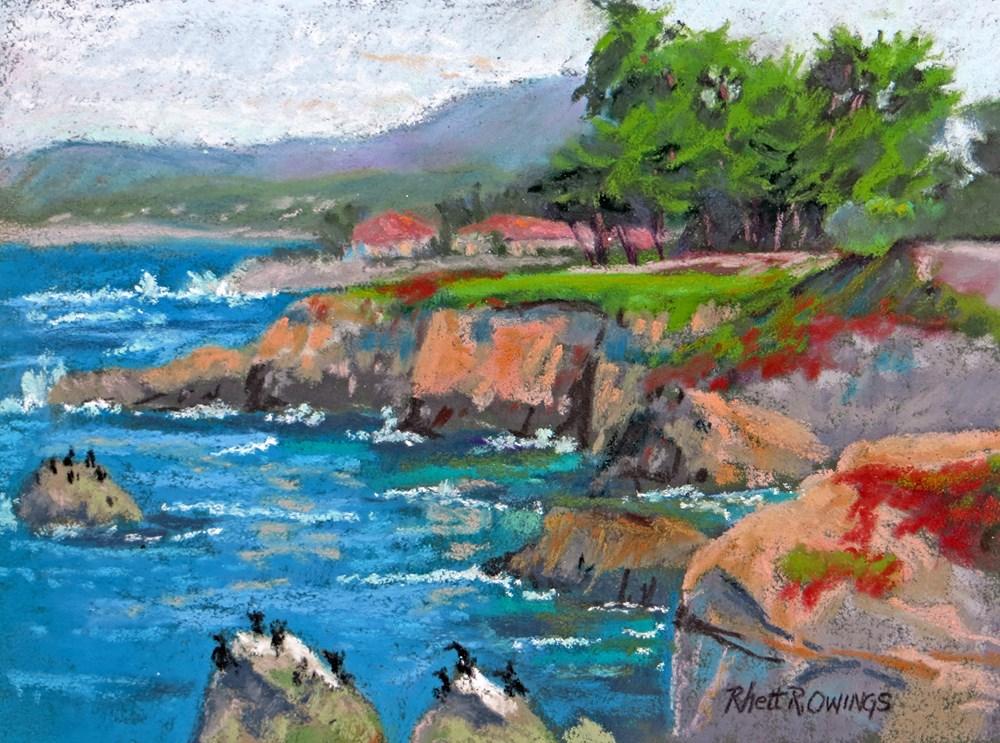 """Pacific Grove Shoreline"" original fine art by Rhett Regina Owings"
