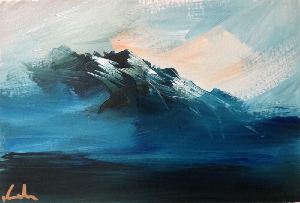 """""""Dauntless"""" original fine art by David Kuhn"""