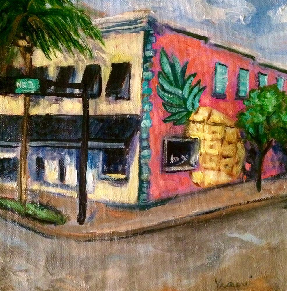 """Pineapple Blvd."" original fine art by Valerie Vescovi"