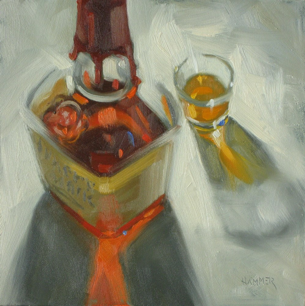 """A shot of Maker's 6x6 oil"" original fine art by Claudia Hammer"