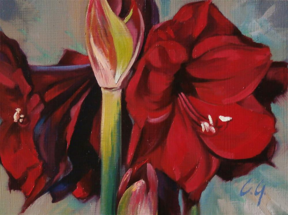 """Red Beauties"" original fine art by Carla Gauthier"